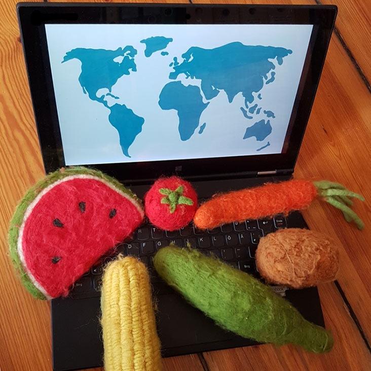 Gemüse geht auf digitale Gemüseweltreise mit Johanna Lochner